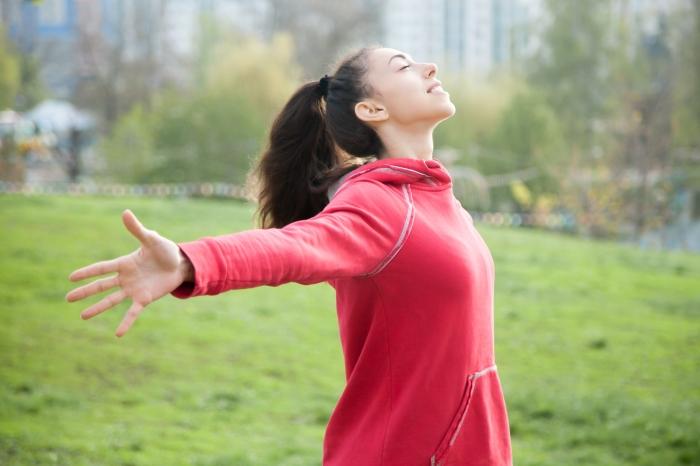 Beautiful woman enjoying fresh air